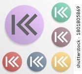 arrow  backward badge color set ...