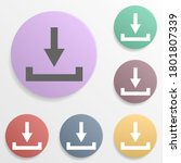 arrow  download badge color set ...