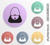 egg holder badge color set icon....