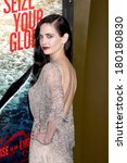 los angeles   mar 4   eva green ... | Shutterstock . vector #180180830