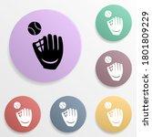 baseball glove and ball badge...
