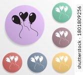 party balloon badge color set...