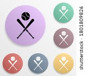 baseball bat and ball badge...