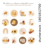 highlights autumn cover  posts...   Shutterstock .eps vector #1801812700
