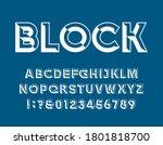 Block Alphabet Vector Font....