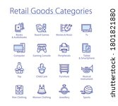 retail goods categories concept.... | Shutterstock .eps vector #1801821880