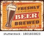 Local Brewery Beer Rusty Metal...