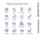 sports equipment concept.... | Shutterstock .eps vector #1801837693