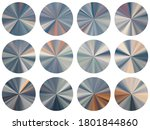 chrome circle metallic gradient ...