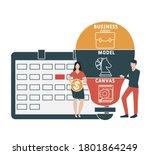 flat design with people. bmc    ... | Shutterstock .eps vector #1801864249