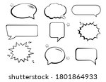 set of speech bubbles. halftone ... | Shutterstock .eps vector #1801864933