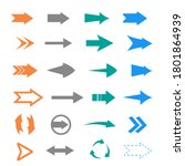 arrows vector set. arrow icons. ... | Shutterstock .eps vector #1801864939