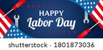Happy Usa Labor Day Banner...