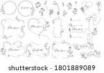 floral hand drawn vector... | Shutterstock .eps vector #1801889089
