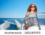 summer vacation   young girl... | Shutterstock . vector #180189593