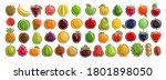 vector set of fresh fruits ... | Shutterstock .eps vector #1801898050