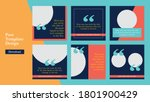 social media post template... | Shutterstock .eps vector #1801900429
