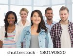 young design team standing and...   Shutterstock . vector #180190820