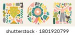 trendy doodle shapes and... | Shutterstock .eps vector #1801920799
