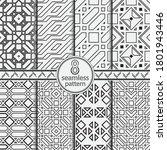 seamless set geometric vector... | Shutterstock .eps vector #1801943446