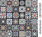patchwork seamless pattern ...   Shutterstock .eps vector #1801962283