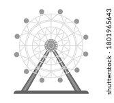 ferris wheel  tourist... | Shutterstock .eps vector #1801965643