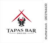 spanish bar tapas food logo... | Shutterstock .eps vector #1801966630