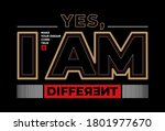 yes  i am different  modern and ... | Shutterstock .eps vector #1801977670