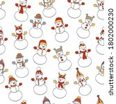 vector christmas winter... | Shutterstock .eps vector #1802000230