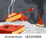 information war | Shutterstock .eps vector #180200888