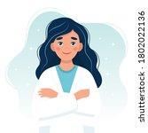 female doctor cute character....   Shutterstock . vector #1802022136