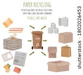 used plastic items and items... | Shutterstock .eps vector #1802026453