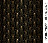 art deco pattern. seamless gold ... | Shutterstock .eps vector #1802029360