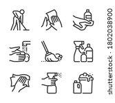 corona virus  bold line icons....   Shutterstock .eps vector #1802038900