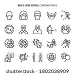 corona virus  bold line icons....   Shutterstock .eps vector #1802038909
