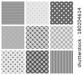 seamless black  white and grey... | Shutterstock . vector #180204614