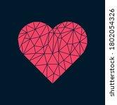 Polygonal Heart On Dark...