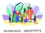 cleaning service people with... | Shutterstock .eps vector #1802079973