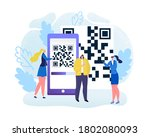 digital qr code for mobile scan ...