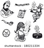 smoke tobacco drugs and... | Shutterstock .eps vector #180211334