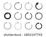 sets of black circle arrows.... | Shutterstock .eps vector #1802147743