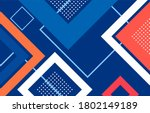 abstract geometric square shape ... | Shutterstock .eps vector #1802149189