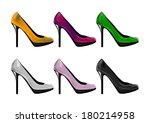 Six Pairs Of High Heel Shoes...