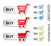 vector simple shopping cart ... | Shutterstock .eps vector #180216020