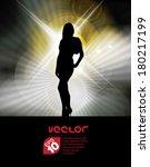 attractive woman. vector | Shutterstock .eps vector #180217199