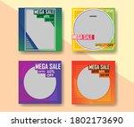 promotional square banner set... | Shutterstock .eps vector #1802173690