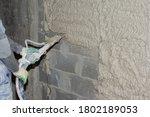 Machine Application Of Plaster...