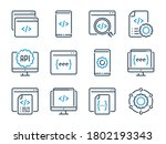 programming and development... | Shutterstock .eps vector #1802193343