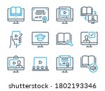 online education related vector ... | Shutterstock .eps vector #1802193346