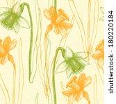 seamless vector narcissus... | Shutterstock .eps vector #180220184